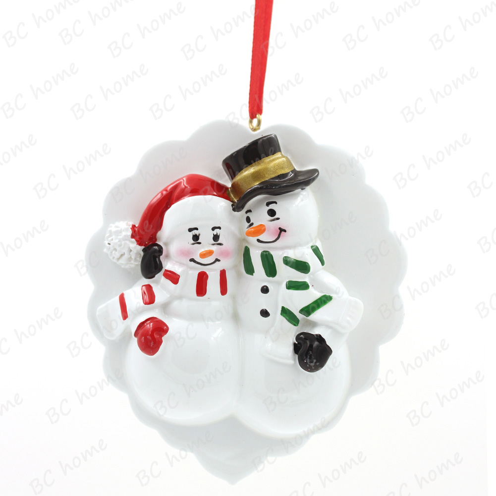 Pregnet Snowman Couple Ornament Personalized Christmas Tree Ornament
