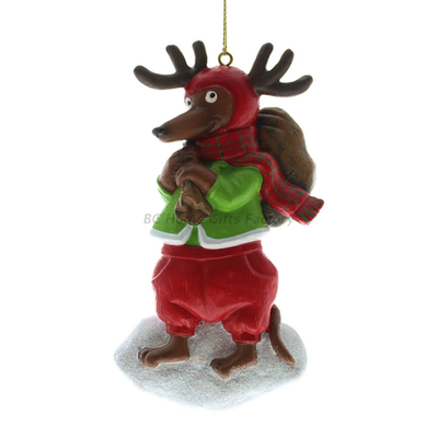 Personlized 3D Chritmas Reinbeer Ornament