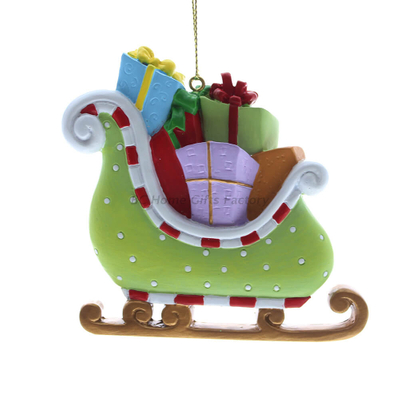 Personlized 3D Sleigh Ornament