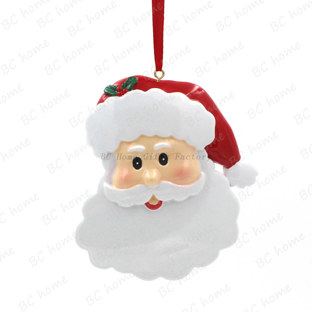 Santa Claus Head Ornament Personalized Christmas Tree Ornament