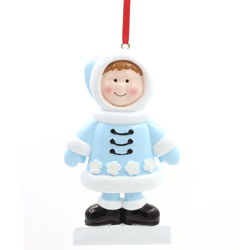 Boy and Girl In Winter Ornament Personalized Christmas Tree Ornament