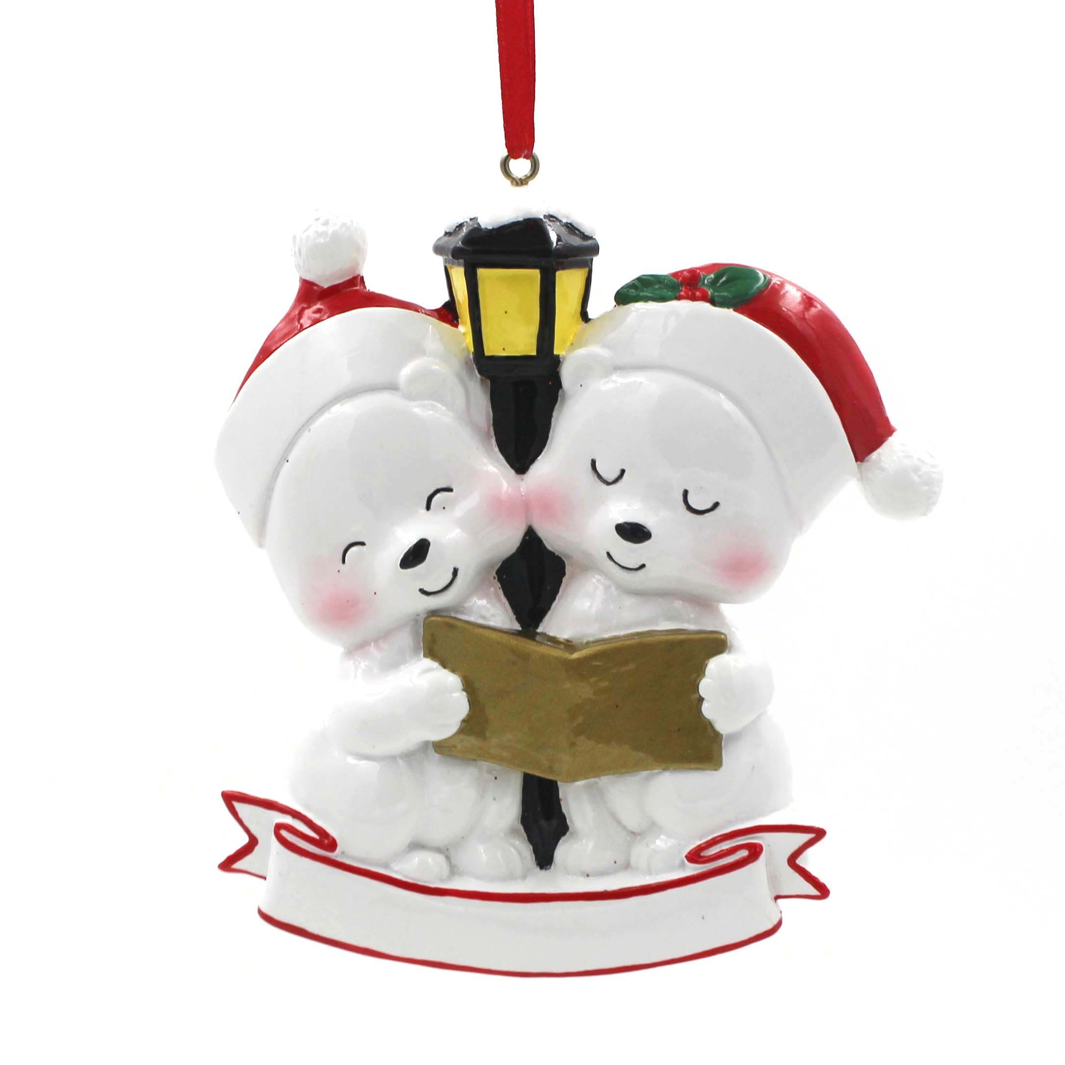 Couple Bear With Book Ornament Personalized Christmas Tree Ornament