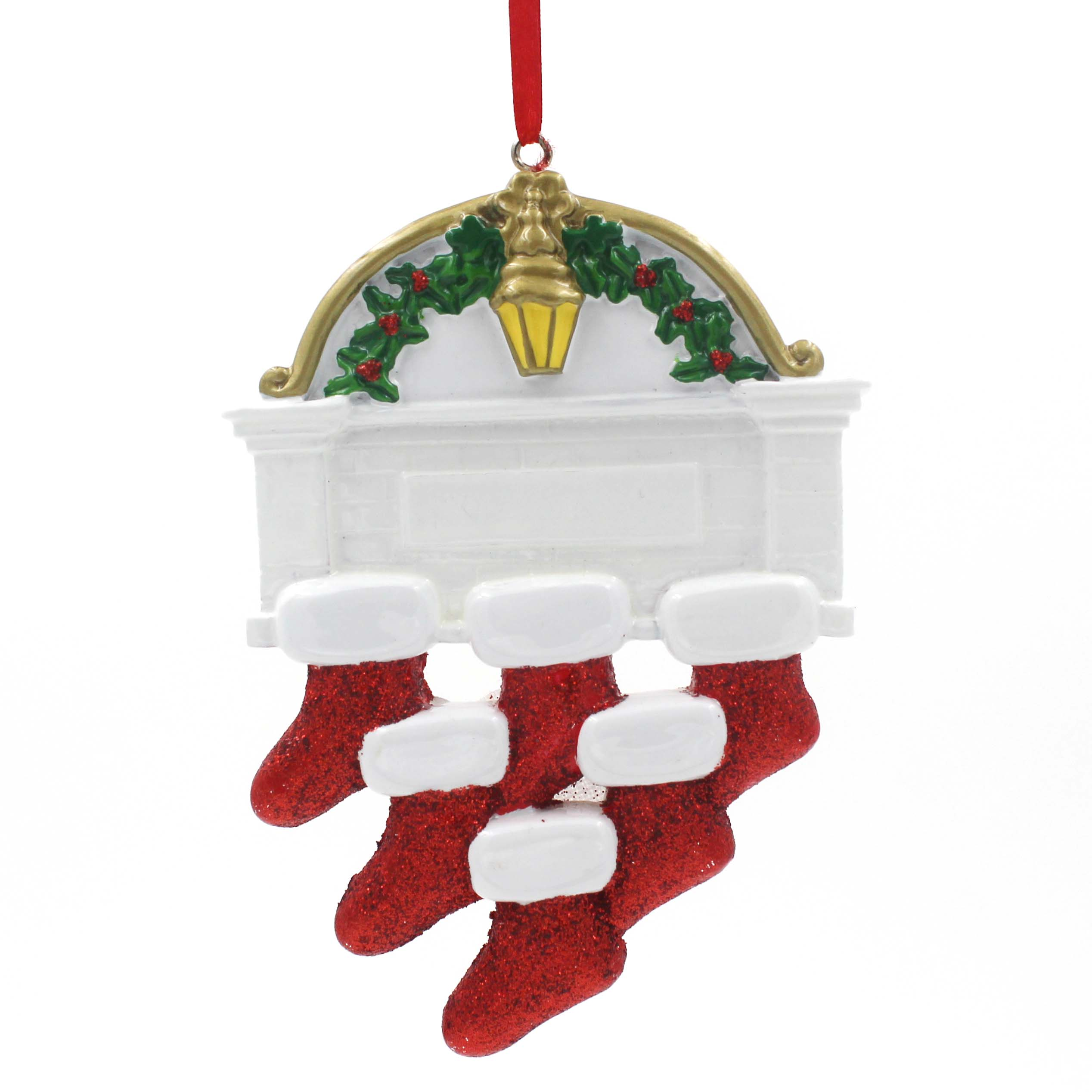 Stocking Family Of 6 Personalized Christmas Ornament