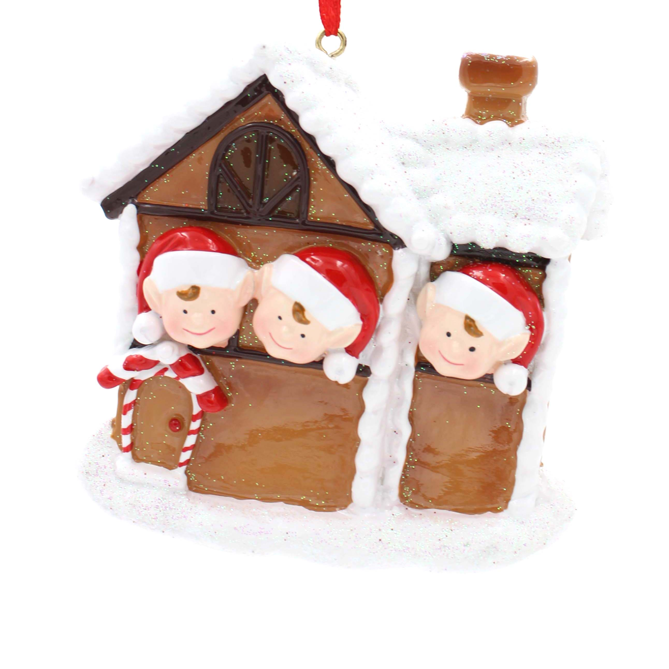 Ginger House Family Of 6 Personalized Christmas Tree Ornament