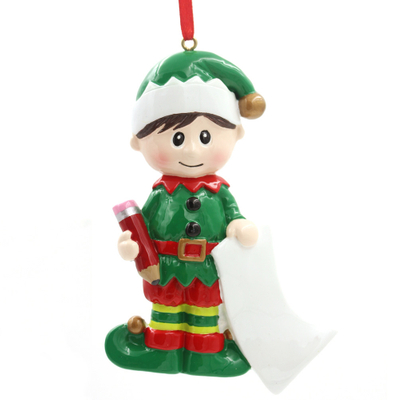 Elf Boy Ornament Personalized Christmas Tree Ornament