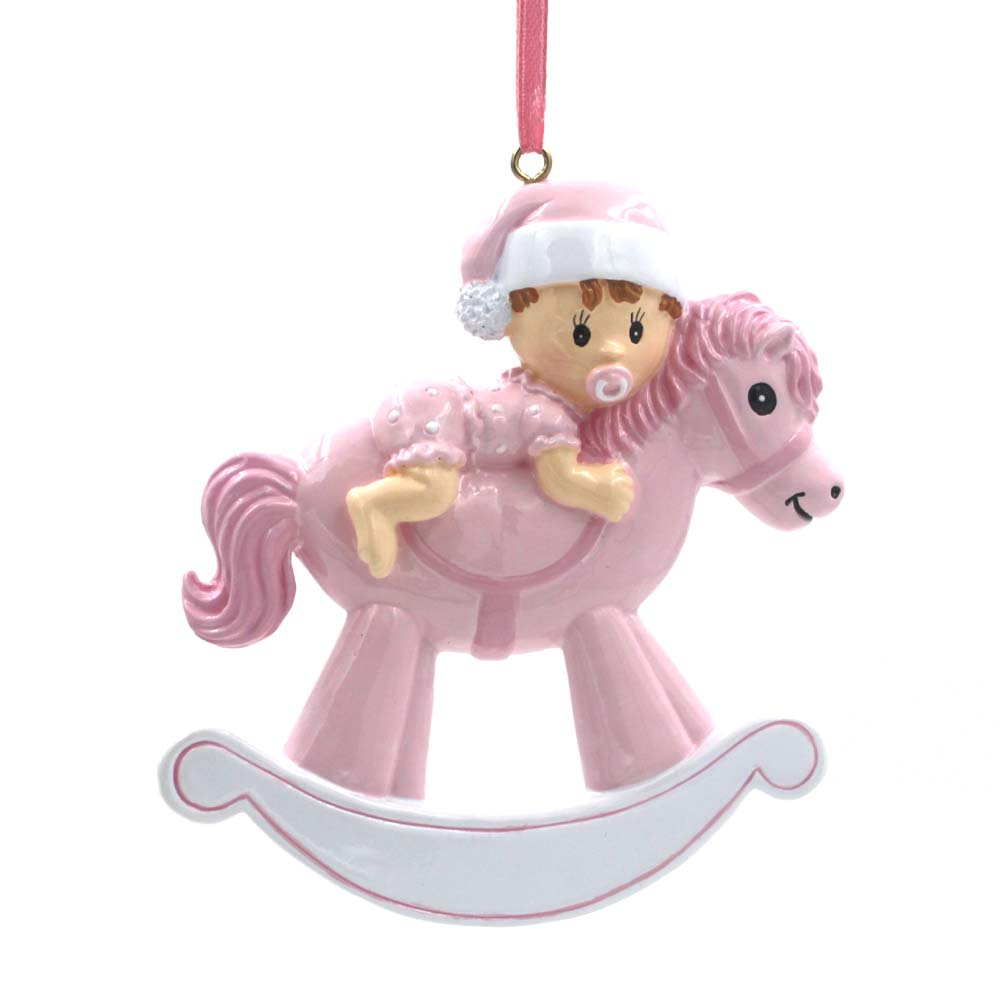 Baby Rocking Horse Personalized Christmas Tree Ornament