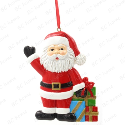 Santa Claus With Gifts Ornament Personalized Christmas Tree Ornament