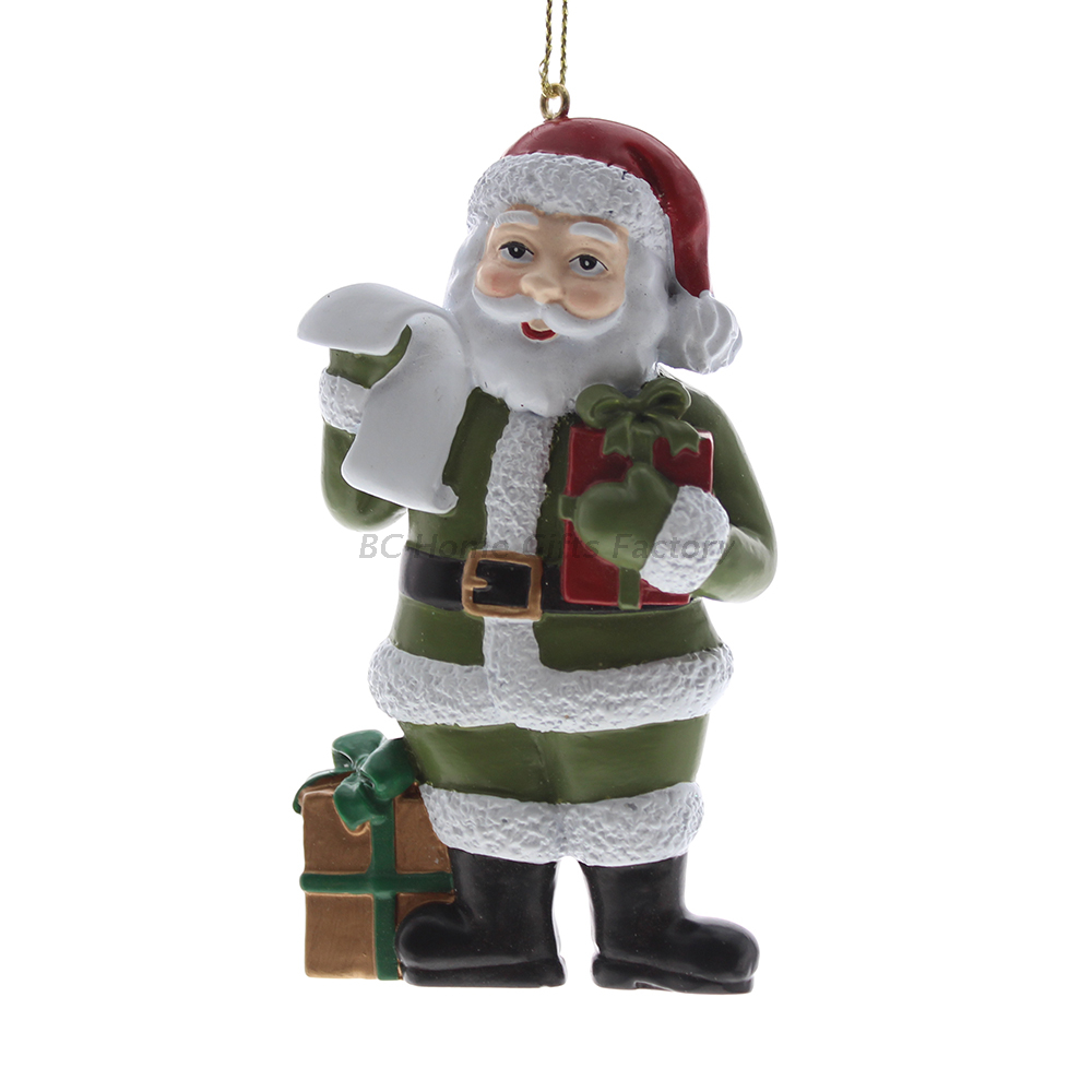 Personlized 3D Santa Ornament