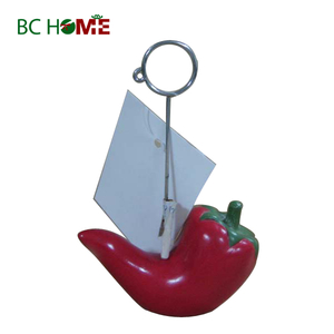Pear Polyresin Business Card Holder