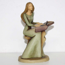 Gifted Lady Playing Piano Figurine Music Resin Craft