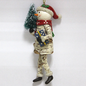 Resin Snowman Gentleman Christmas ornament