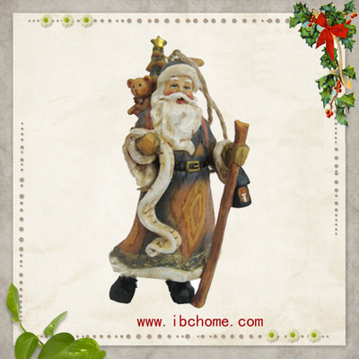 Polyresin santa gifts,Santa christmas ornaments,christmas tree decoration