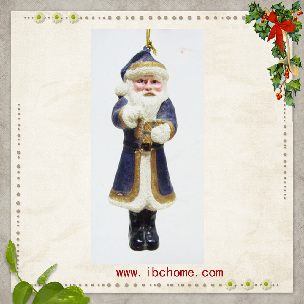 Polyresin Santa Claus Crafts,christmas decoration tree resin ornaments