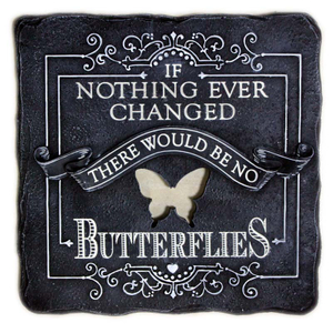 Handmade Polyresin Garden Butterflly Square Stepping Stone