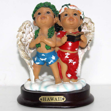 Hawaii Children Angel Head-up Resin Crafts