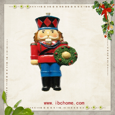 Parade Nutcracker,Christmas Resin Ornaments with flat back design