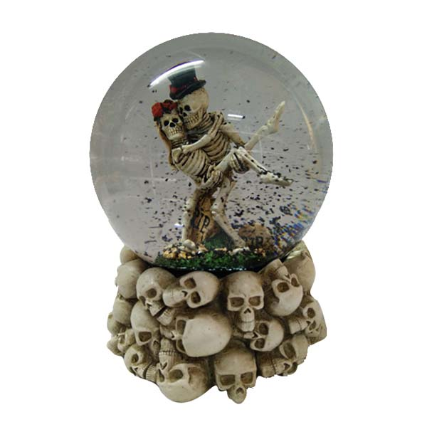 bone couple Hallowmas snow ball