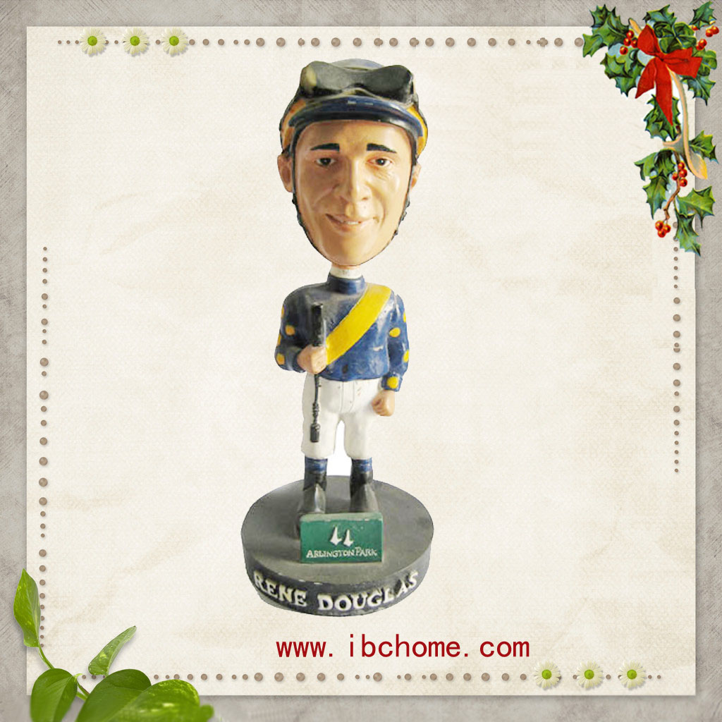 hocky bobble heads,resin bobble heads figures