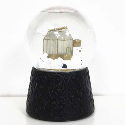 Christmas clear light house Polyresin Snow globes