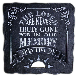Handmade Polyresin Garden Stepping Stone For Memories