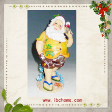 Lovely Santa claus ornaments,christmas tree resin ornaments