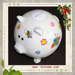 Resin Piggy money box,coin saving box